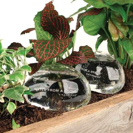 Elegant Plant-Watering Stones