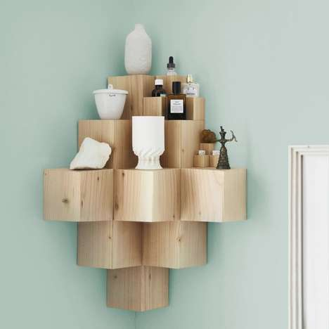 Minimalist Cubic Shelves