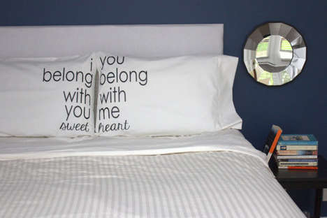 Couples Pillowcase Sets - This Couples Pillowcase Set Features Lyrics from The Lumineers