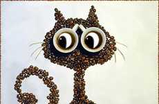 Coffee Bean Art - Irina Nikitina Creates Adorable Animals with Coffee Beans