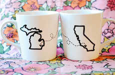 Customizable Long Distance Mugs - The State Heart Mugs are Perfect for Long Distance Relationships