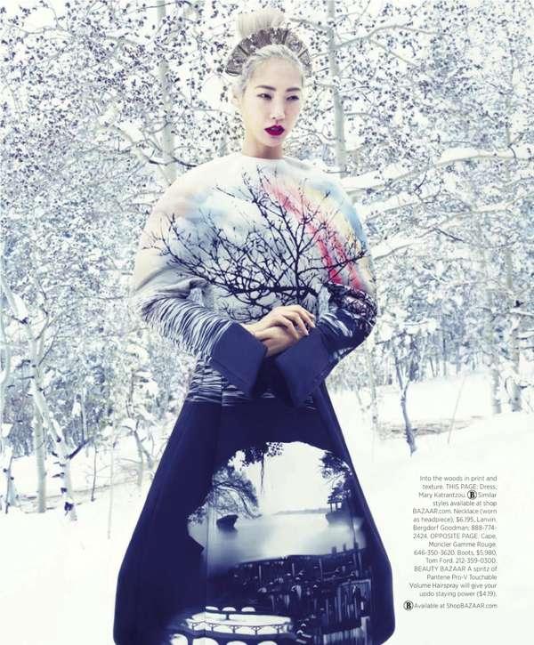 33 Snowy Fashion Spreads