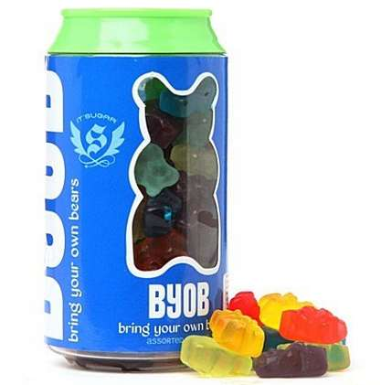 Gummy Bear Beer Cans - This BYOB Gummy Bear Can is Perfect for Kid-Friendly Parties