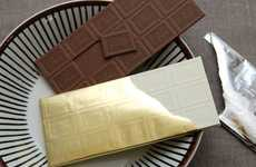 Confectionery Stationery - Chocolate Bars Wrapped in Foil Make for Sweet Greeting Cards