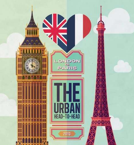 City Rivalry Infographics - The London vs. Paris Infographic Puts Two Iconic Cities Head to Head