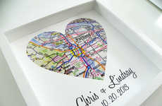 Personalized Typographic Love Maps - This Personalized Map Heart Makes the Perfect Wedding Gift