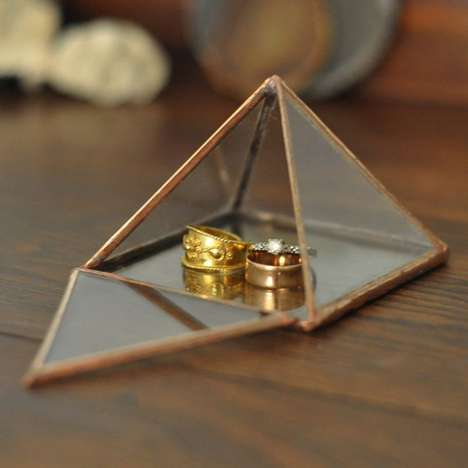 Hinged Pyramid Display Cases