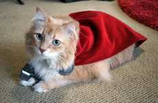 Heroic Feline Attire - This Superhero Cat Costume is Adorably Inspired by Marvel's Thor