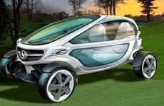 Luxurious Golf Carts - The Mercedes-Benz Golf Cart Brings High Tech to the Green