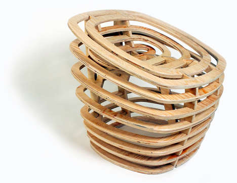 Wooden Vortex-Like Seating