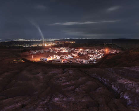 Headlight-Lit Landscape Photography