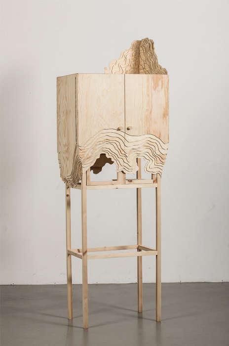 Deceptively Eroded Furniture