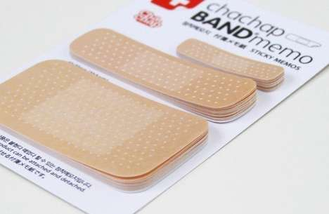 First Aid Sticky Notes - The Chachap 'Band Memo' Gives Your Notes a Quirky Flair