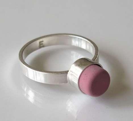 Eraser-Topped Rings