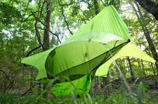 Swing Bed Tents - The Nube Hammock Shelter by Richard Rhett Enhances Camping Experience