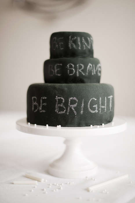 DIY Chalkboard Cakes - This Birthday Cake's Icing Design is Inspired by Chalk Paint
