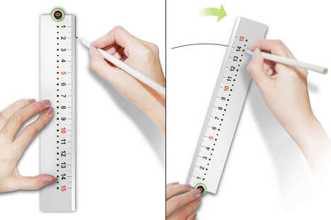 Exact Circle-Drawing Rulers - The 'Compasses Ruler' Lets You Draw Precise Straight and Curved Lines