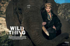 Regal Safari-Esque Covers - The L'Officiel Netherlands 'Wild Thing' Editorial Stars Marloes Ho