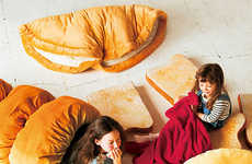 Croissant-Inspired Sleeping Bags - These Croissant Sleeping Bags Offer Campers a Doughy Slumber