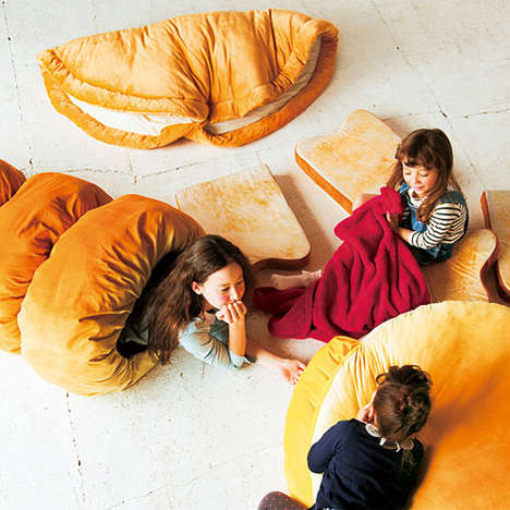 Croissant-Inspired Sleeping Bags