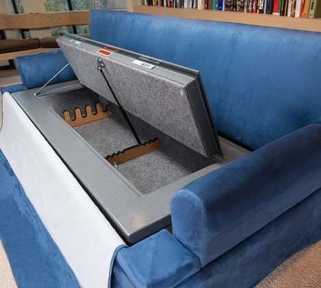 Hidden Gun Safe Couches - This Couch Safe Will Keep You and Your Property Protected