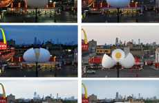 Billboards That Hatch - McDonald's Giant Egg Hatches Daily