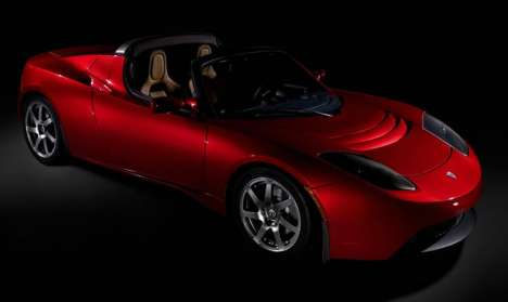Green Celebrity Dream Cars - The Tesla Roadster & Stars Who Love It