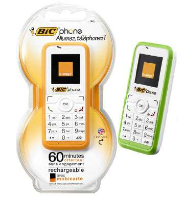 Disposable Cell Phones - Bic in Partnership with Orange