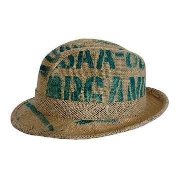Hats Made of Upcycled Coffee Sacks