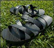 Shoes Made of Old Truck Tires - Old Ho's Rubber Tire Sandals