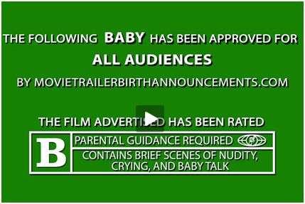 Movie Trailer Birth Announcements