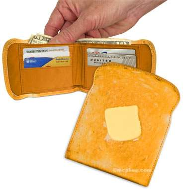 Fake Food Wallets - Toast and Bacon Wallets