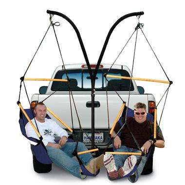 Trailer Hitch Stand and Chairs