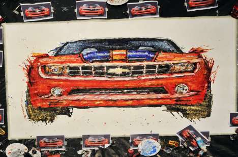 Painting with Remote Control Toy Cars