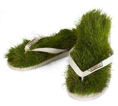 Living Shoes - Grass Flip Flops for Krispy Kreme