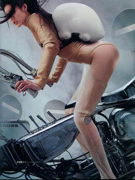 Badass Females in Motorbike Chases