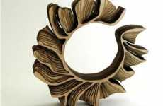 Architectural Jewelry - Laser Cut Wooden Bracelets by Anthony Roussel
