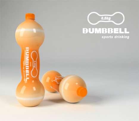 Sports Bottle Dumbbells