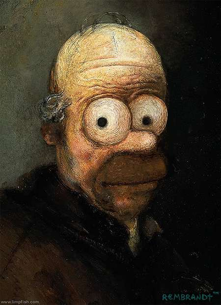 Cartoon Oil Paintings