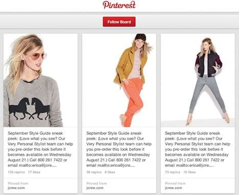 Social Media Fashion Campaigns - The J Crew Pinterest Collaboration Debuted the Fall Catalog