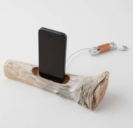 Tree Branch Tech Docks - This iPhone 5 Dock Looks the Furthest Thing from High-Tech