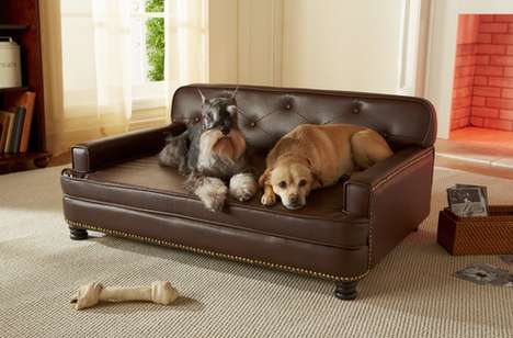 Sophisticated Pet Sofas - The Library Dog Sofa is a Gorgeous and Roomy Pet Bed