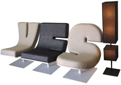 Typographic Letter Loungers