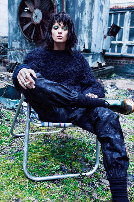 Uptown Grunge Fashion - The ELLE Norway Editorial Features an Eclectic Wardrobe