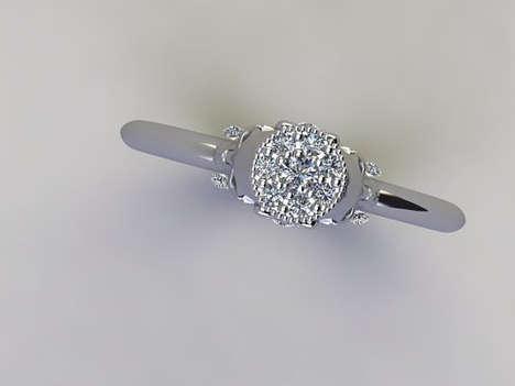 Subtle Skeletal Engagement Rings