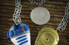 Droid Companionship Jewelry - The R2-D2 and C-3PO Friendship Necklace is Perfect for Han and Chewie