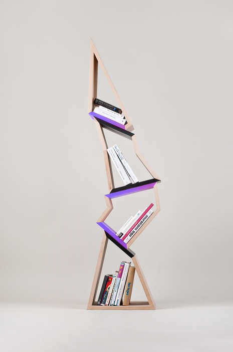 Abstract Angular Bookcases