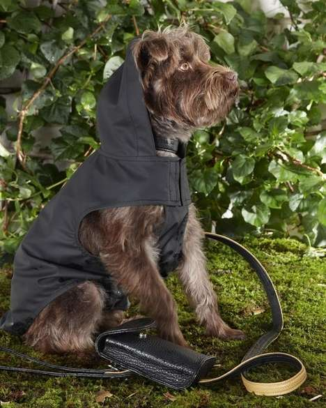 House Pet Rainwear - Yeohlee's Raincoat with Hoods is the New Fashion for Pets