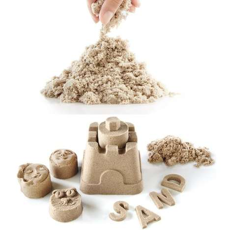 Pliable Sand Castles - The Kinetic Stretchable Polymer Play Sand Lets You Bring the Beach Indoors
