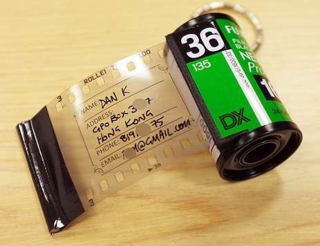 DIY Film Travel Tags - Upcycled Film Canisters Make for Retro Bag Address Tag Designs